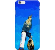 Double Crested Cormorant on Mast Abstract Impressionism iPhone Case/Skin