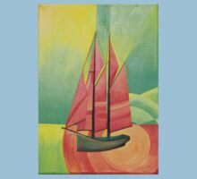 Cubist Abstract Sailing Boat Baby Tee