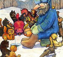 Winter fishing by Aleksandr Yankovsky
