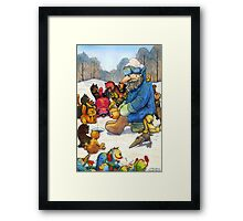 Winter fishing Framed Print