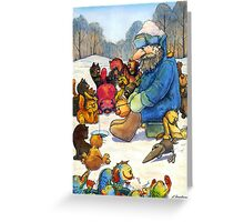 Winter fishing Greeting Card