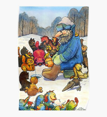 Winter fishing Poster