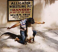 Aligator Wrestling by SlidingPhotos