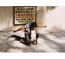 Aligator Wrestling Photographic Print