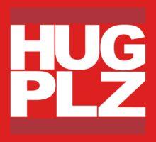 HUG PLZ White Kids Tee