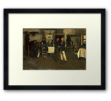 Meeting between Giuseppe Garibaldi and Giovanni Battista Cuneo in Taganrog, on the Black Sea Framed Print