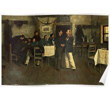 Meeting between Giuseppe Garibaldi and Giovanni Battista Cuneo in Taganrog, on the Black Sea Poster