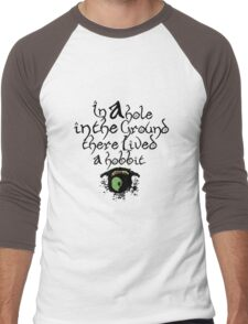 In a hole, in the ground Men's Baseball ¾ T-Shirt