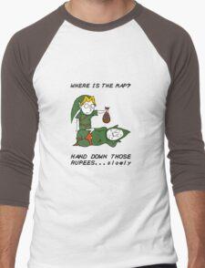 Where is the Map Tingle ? Men's Baseball ¾ T-Shirt
