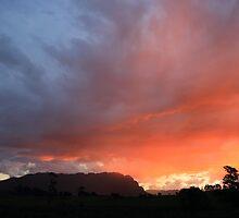 Mount Roland Ablaze by tinnieopener