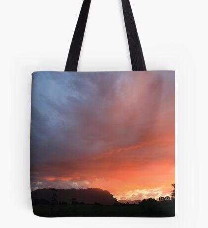 Mount Roland Ablaze Tote Bag