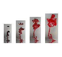 Abstract Red In Growth Photographic Print