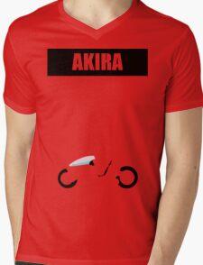 Akira minimalist Mens V-Neck T-Shirt