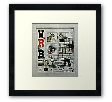 White, Red and Black. Framed Print