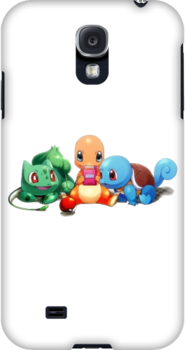 Charmander, Bulbasaur, and Squirtle playing Gameboy by thetruth90210