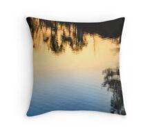 Gradient Lake Throw Pillow