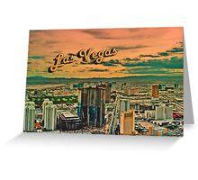 Vegas Postcard Greeting Card