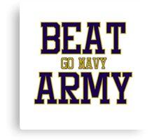 Go Navy Beat Army Canvas Print