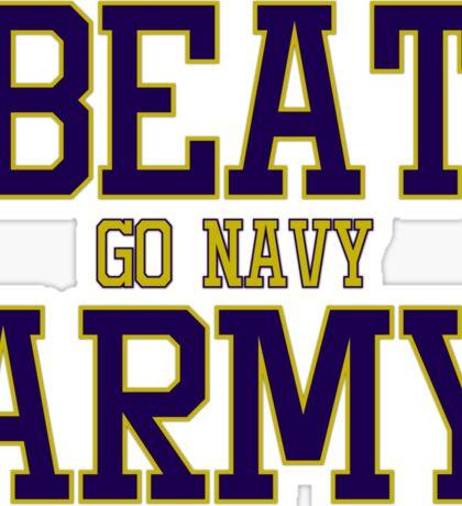 Go Navy Beat Army Sticker