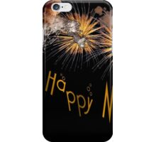 Happy New Year Greeting With Champagne and Fireworks iPhone Case/Skin