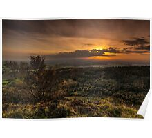 Sutton Sunset North Yorkshire Poster