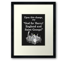Shakespeare - Henry V - upon this charge, - dark Framed Print