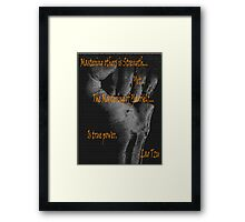 Bad-Ass Lao Tzu Self Mastery Quote  Framed Print