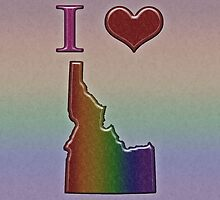 I Heart Idaho Rainbow Map - LGBT Equality by LiveLoudGraphic