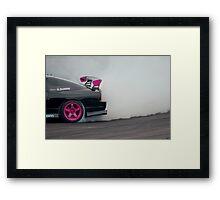 smoke on track Framed Print