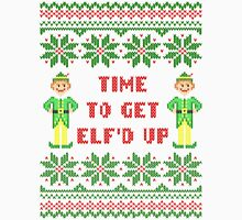 Get Elfd Up Buddy Elf Ugly Christmas Sweater Men's Baseball ¾ T-Shirt