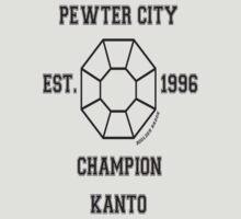 Pewter City Boulder Badge: Pokemon Kanto Region  by MikeCotopolis