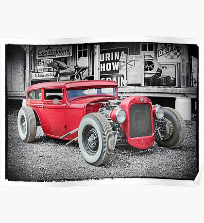 Classic Hot Rod Poster