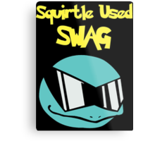 Squirtle Used Swag Metal Print