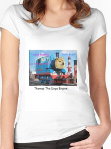 Thomas The Doge Engine Women's Fitted Scoop T-Shirt