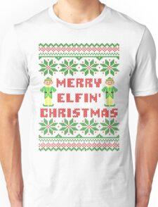 Merry Elfin Christmas Funny Ugly Sweater Shirt Unisex T-Shirt