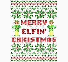 Merry Elfin Christmas Funny Ugly Sweater Shirt T-Shirt