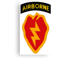 25th Infantry 4th BCT (Airborne) Canvas Print