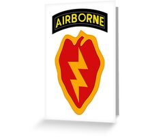 25th Infantry 4th BCT (Airborne) Greeting Card
