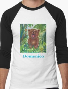 Domenico roaring bear Men's Baseball ¾ T-Shirt