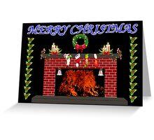 A Warm Merry Christmas Greeting Card