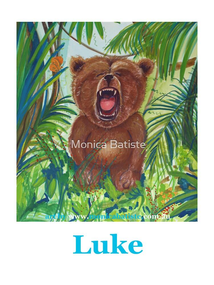 LUKE roaring bear by Monica Batiste