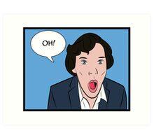 Sherlock Pop Art Art Print