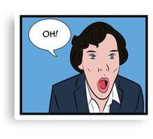 Sherlock Pop Art Canvas Print