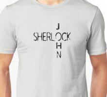 Sherlock & John (Black Text) Unisex T-Shirt