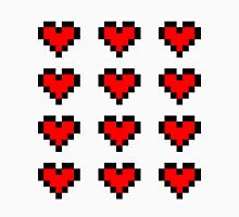 12 Pixel Hearts - Red T-Shirt