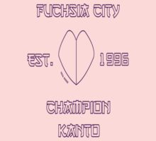 Fuchsia City Champion: Pokemon Kanto Baby Tee