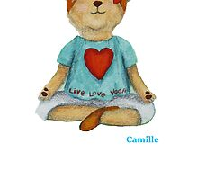 Camille Live Love Yoga Bear by Monica Batiste