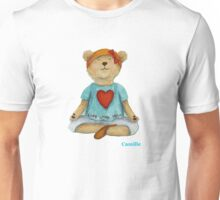 Camille Live Love Yoga Bear Unisex T-Shirt