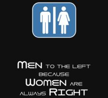 Men to the Left Because Women Are Always Right by Samuel Sheats