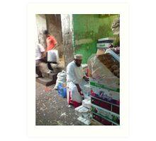 bazaar stall Art Print